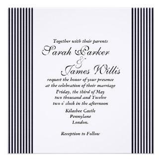 Invitación del boda del marco de la cinta del dama