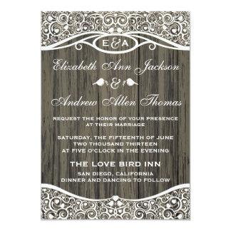Invitación del boda del modelo de la vid de los