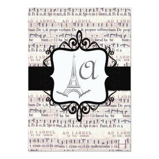 Invitación del boda del monograma
