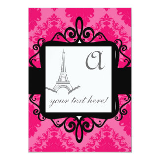 Invitación del boda del monograma invitación 12,7 x 17,8 cm