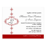 Invitación del boda del monograma postal