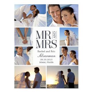Invitación del boda del montaje del boda - blanco tarjetas postales