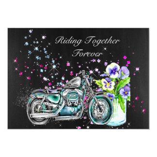 Invitación del boda del motorista con la