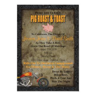Invitación del boda del motorista de la carne
