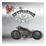 Invitación del boda del motorista de la motociclet