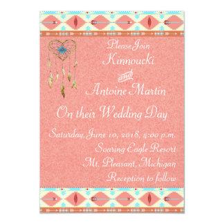 Invitación del boda del nativo americano