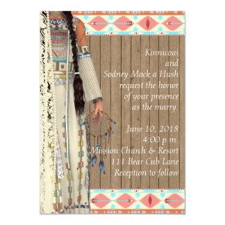Invitación del boda del nativo americano con la