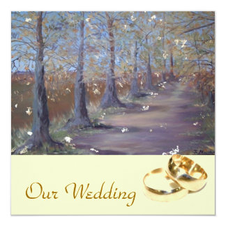 Invitación del boda del otoño