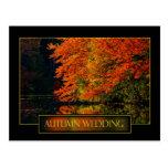 Invitación del boda del otoño tarjetas postales