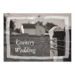 Invitación del boda del país invitación 12,7 x 17,8 cm