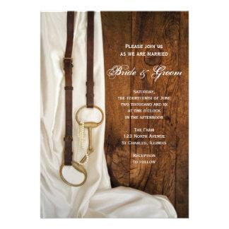 Invitación del boda del país del pedazo del satén