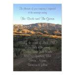 Invitación del boda del paisaje de la montaña del invitación 12,7 x 17,8 cm