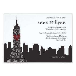 Invitación del boda del paisaje urbano del