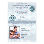 Invitación del boda del pasaporte de Australia