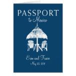 Invitación del boda del pasaporte de Cancun México Tarjeton