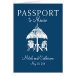 Invitación del boda del pasaporte de Cancun México Tarjetón