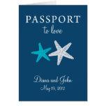 Invitación del boda del pasaporte de Cape May New  Tarjetón