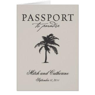 Invitación del boda del pasaporte de Costa Rica Tarjeta Pequeña