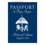 Invitación del boda del pasaporte de Ibiza España Felicitacion