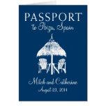 Invitación del boda del pasaporte de Ibiza España Tarjetón