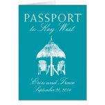 Invitación del boda del pasaporte de Key West la Tarjeta Pequeña