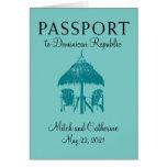 Invitación del boda del pasaporte de la República Tarjeta Pequeña