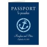 Invitación del boda del pasaporte de la travesía tarjeta pequeña