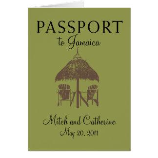 Invitación del boda del pasaporte de Montego Bay J Felicitaciones