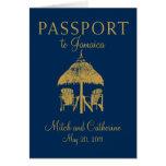 Invitación del boda del pasaporte de Montego Bay J Felicitación
