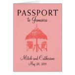 Invitación del boda del pasaporte de Ocho Rios Jam Tarjeta Pequeña
