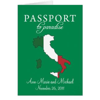 Invitación del boda del pasaporte de Ravello Itali Tarjeta Pequeña