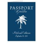 Invitación del boda del pasaporte de Samoa Occiden Felicitaciones