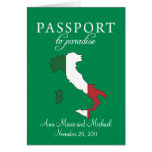 Invitación del boda del pasaporte de Sorrento Ital Tarjetas