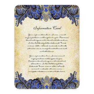 Invitación del boda del pavo real de Paisly de la Invitación 10,8 X 13,9 Cm