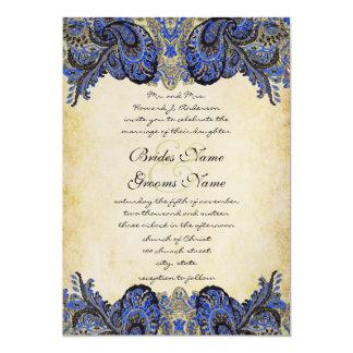Invitación del boda del pavo real de Paisly de la Invitación 12,7 X 17,8 Cm