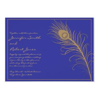 Invitación del boda del penacho del pavo real