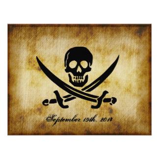 Invitación del boda del pirata