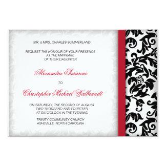 Invitación del boda del placer del damasco