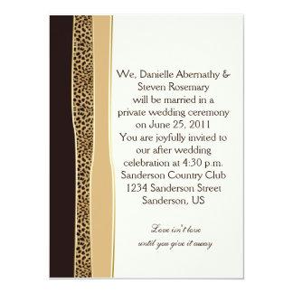 Invitación del boda del poste del estampado