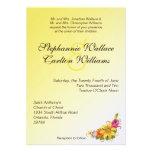Invitación del boda del ramo de la flor