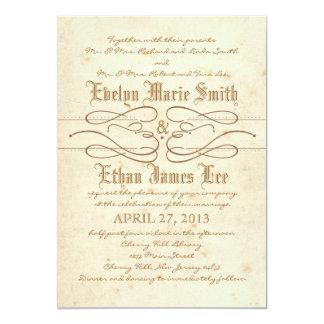 Invitación del boda del remolino del guión