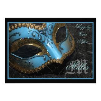 Invitación del boda del renacimiento de la mascara