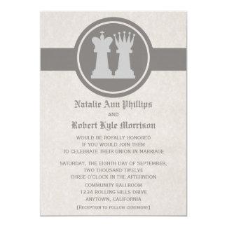Invitación del boda del rey y de la reina del