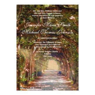 Invitación del boda del roble