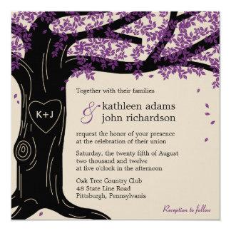 Invitación del boda del roble invitación 13,3 cm x 13,3cm