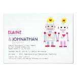 Invitación del boda del robot