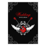 Invitación del boda del rock-and-roll