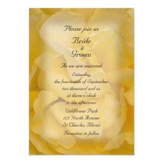 Invitación del boda del rosa amarillo invitación 12,7 x 17,8 cm