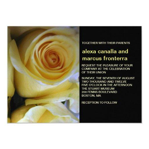 Invitación del boda del rosa amarillo