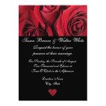 Invitación del boda del rosa rojo invitación 12,7 x 17,8 cm